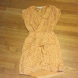 BCBG peach polka dot dress